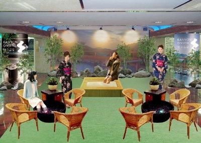 11/25(水)・26(木)の2日間、東京メトロ「銀座駅」に登場する「観音温泉 銀座の湯」。正真正銘、伊豆・奥下田の「観音温泉」の源泉を使った、足湯露天風呂形式の温泉だ