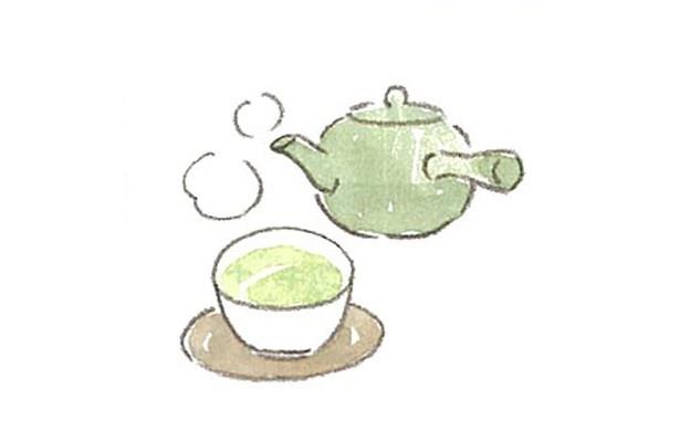 【写真を見る】熱感が高いときには、温かい緑茶を