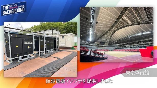 【写真】アグレコは45競技会場すべてに仮設電源インフラを提供した