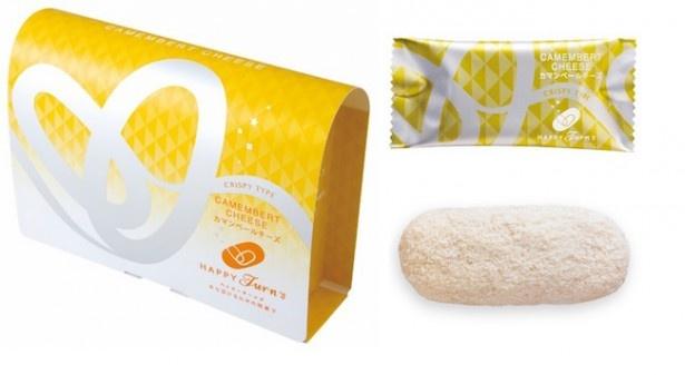 チーズパウダーにカマンベールチーズを75%使用し、口いっぱいに広がる濃いチーズがおいしい「12個 ハッピーターンズ カマンベールチーズ」(540円)