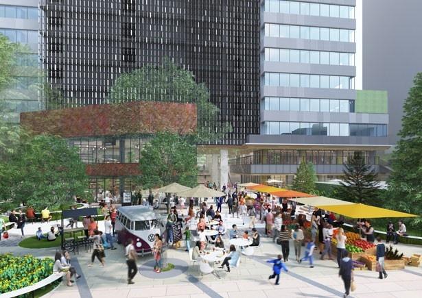 イベント開催時の広場のイメージ