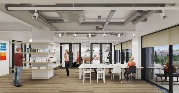 13階には賃貸住宅の入居者に向けた、共用スペースを用意