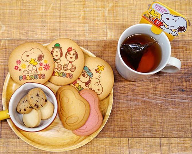 スヌーピーファンのおやつ時間を充実!選ぶのが楽しくなる「クッキー&紅茶セット」