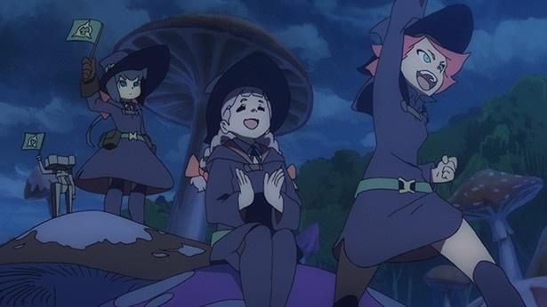 「リトルウィッチアカデミア」第13話先行カットが到着。ルーナノヴァ魔法祭が始まる!
