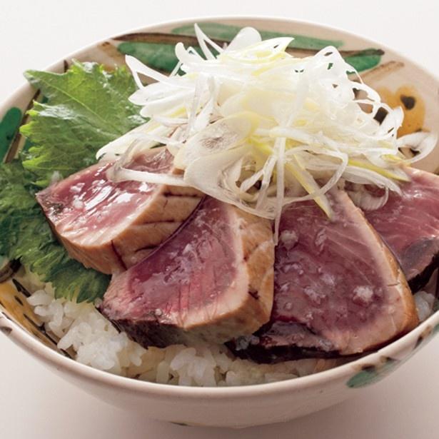 「かつお塩たたき丼」 レタスクラブニュースより