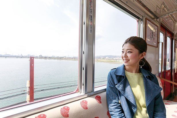 南海加太線のめでたいでんしゃからは紀ノ川などが眺められ車窓バッチリ♪