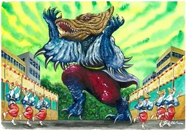 徳島県のご当地怪獣「アワオドロン」