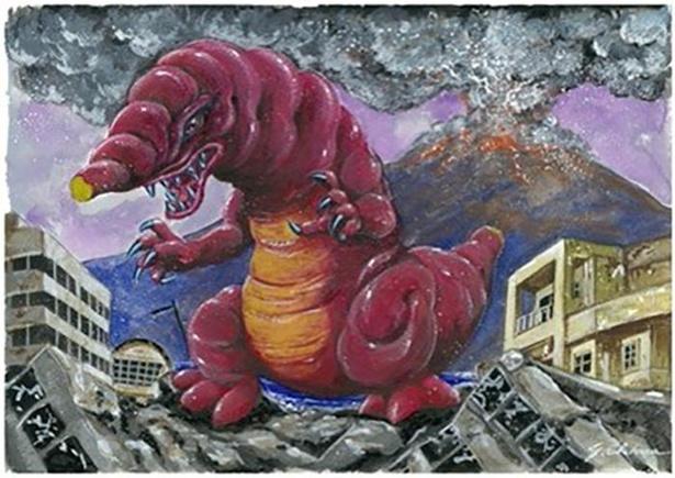 鹿児島県のご当地怪獣「イモラス」