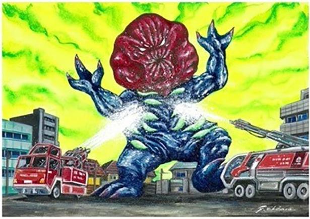 和歌山県のご当地怪獣「ウメボーズ」