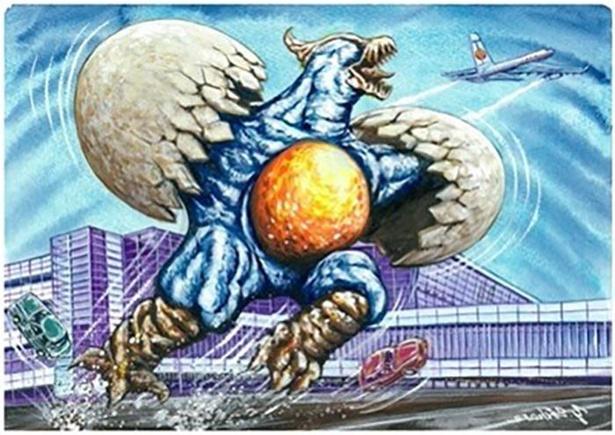北海道のご当地怪獣「タマゴノドン」