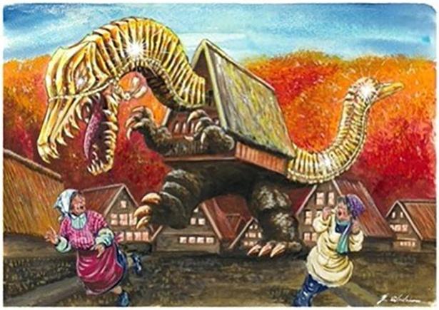 富山県のご当地怪獣「デデレコデン」