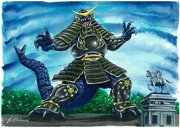 宮城県のご当地怪獣「ドクガンロン」
