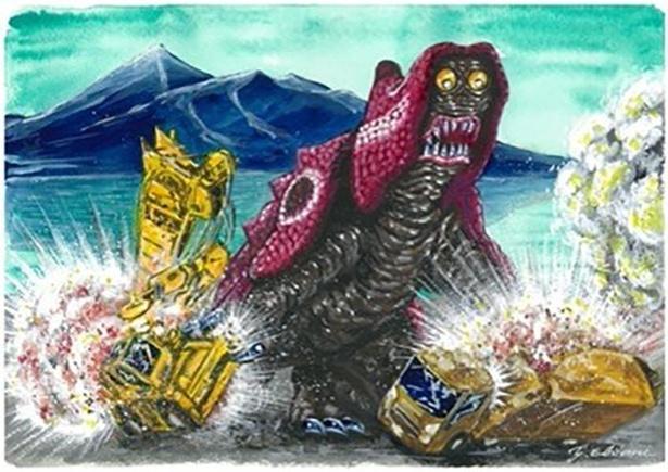 福島県のご当地怪獣「ブルカン」