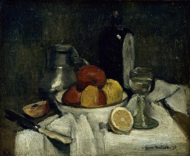 アンリ・マティス 《スヒーダムの瓶のある静物》 1896年 マティス美術館、ル・カトー=カンブレジ