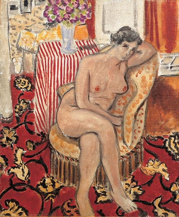【写真を見る】アンリ・マティス 《肘掛椅子の裸婦》 1920年 DIC川村記念美術館
