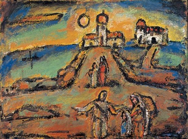 ジョルジュ・ルオー 《秋の夜景》 1952年 パナソニック 汐留ミュージアム