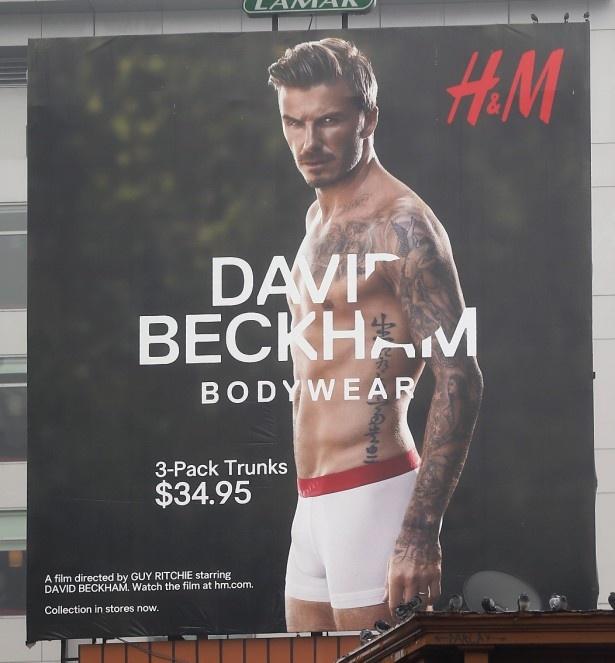 【写真を見る】2013年、H&Mの広告に登場したデビッド・ベッカム