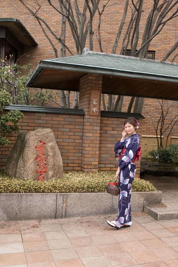 武庫川沿いにある高級感あるホテル「ホテル若水」
