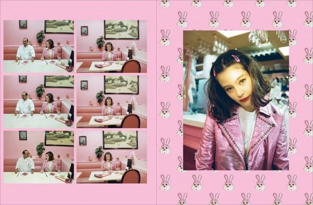 """""""ピンク""""をテーマにしたページではキュートな表情"""