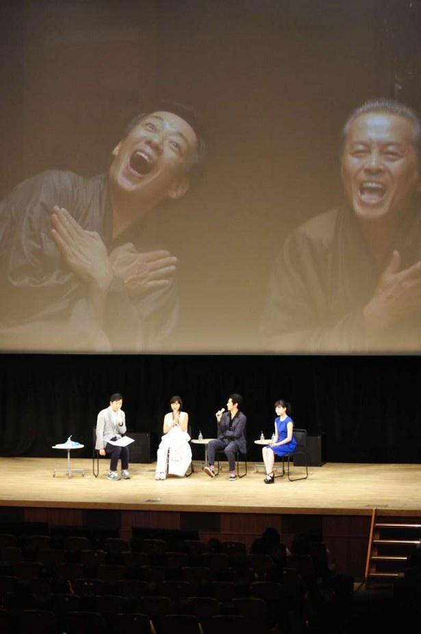 トークでは、ゲストそれぞれの「べっぴん」なシーンも紹介。永山は長太郎(本田博太郎)と五十八(生瀬勝久)の「リンゴの歌」のシーンだとか