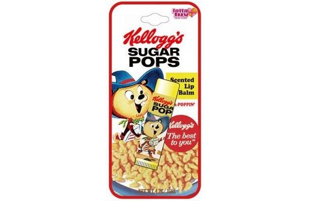 こちらは砂糖がコーティングされたバニラ風味のシリアル「シュガーポップス」