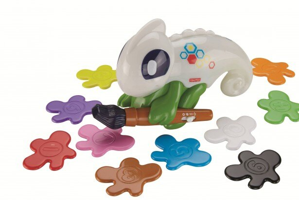 【写真を見る】大きな目のかわいくて楽しいカメレオン玩具はきっと子どものお気に入りになるはず!
