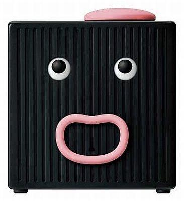 かわいい表情とおしゃべりが自慢の「クロックマン」こちらはA型タイプ