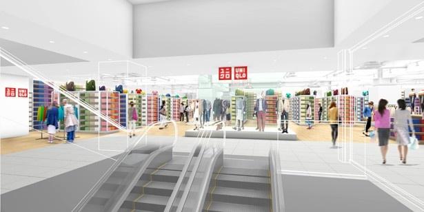 2017年4月7日(金)にオープンする「ユニクロ 名古屋店」のイメージ