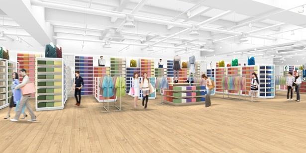 【写真を見る】ユニクロ名古屋店は東海地区最大級の売り場面積を誇る