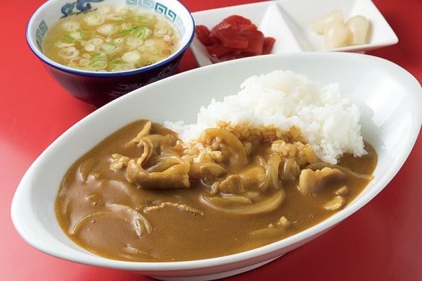細切りタマネギと豚バラ肉の「カレーライス」は680円