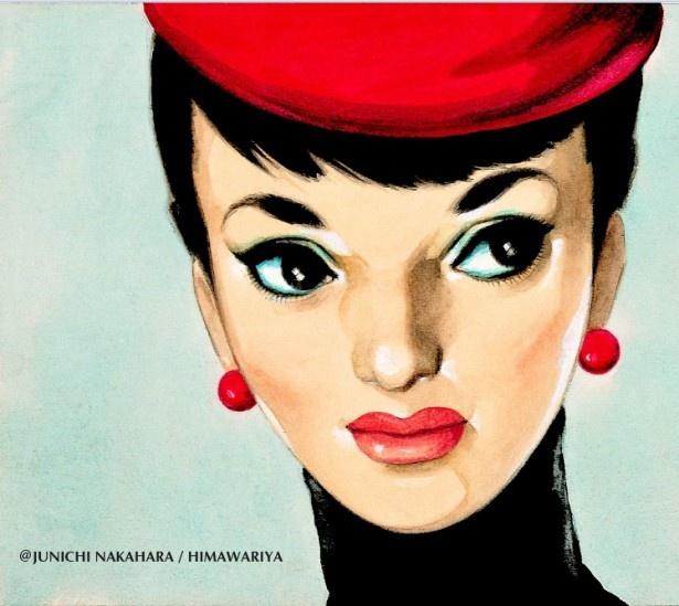 中原による大きな目が印象的な少女のイラスト