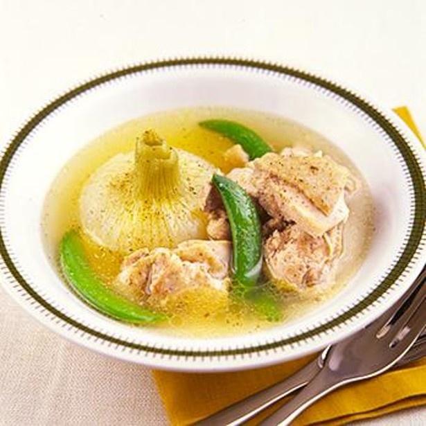「とり肉と新玉ねぎのスープ煮」 レタスクラブニュースより