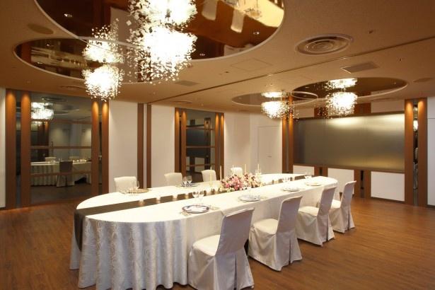 ウェディングサロンの移転に伴い、小宴会場が2室新設された。会議や講演会はもちろん、結納や顔合わせ会食など様々な用途で利用できる