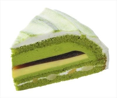 「抹茶と黒みつのケーキ」(453円)