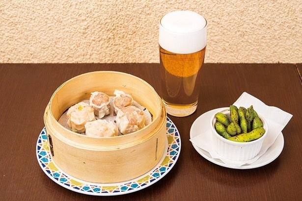 シウマイ4種5個とビール「一番搾り 横浜搾り」のセット(1,000円)