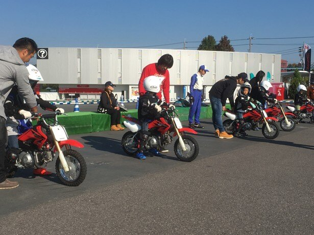 子どもも参加できるバイクの試乗体験イベント