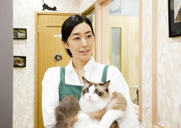 佐久本(伊藤)が働くことになったペットショップの店主・洋子(木村多江)