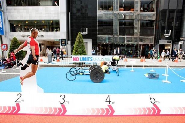 「走幅跳 世界記録に挑戦」は昨年の銀座でも行われ、人気を博した