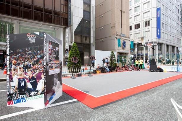 昨年の5月には、銀座の目抜き通りが車椅子バスケットボールのコートに
