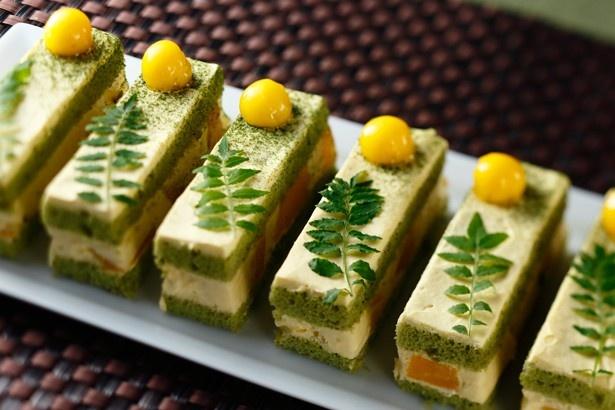 意外な組み合わせに驚きの「抹茶とマンゴーのショートケーキ」