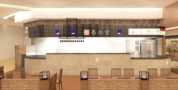 【写真を見る】1983年に台湾で創業してから、台湾全土で48店舗を展開するお茶カフェ「春水堂」。記念すべき日本10号店は、関西初進出の「西宮ガーデンズ店」だ