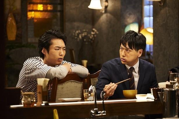 三代目JSB山下健二郎と劇団EXILE八木将康。ドラマ「Love or Not」より
