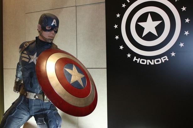 キャプテン・アメリカの展示も