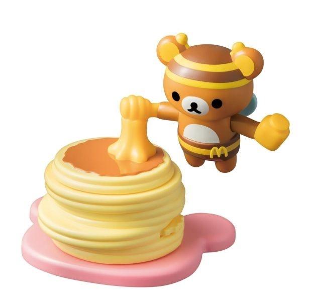 ダイヤルを回すとプチパンケーキとみつばちリラックマがくるくる回る「プチパンケーキとみつばちリラックマ」