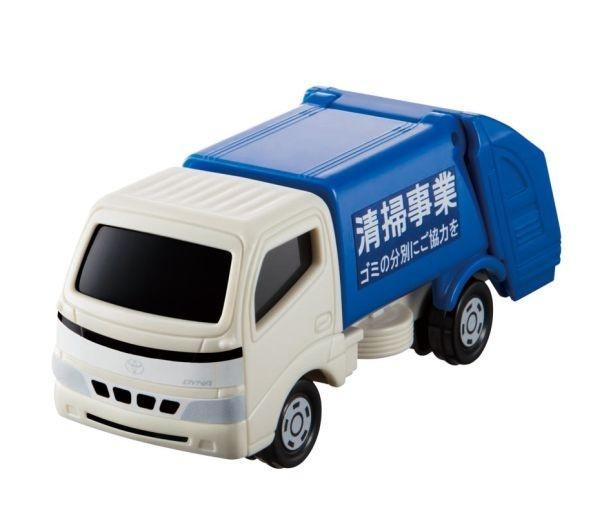 バケットが上下に動き扉を開くこともできる「トヨタ ダイナ 清掃車」