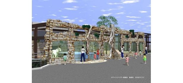 アジアの遺跡をイメージした施設