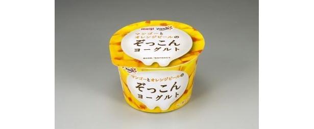 「明治マンゴーとオレンジピールのぞっこんヨーグルト」(138円)
