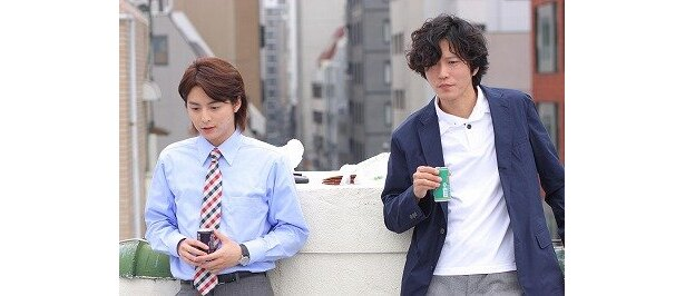 マイコが憧れるのは、イケメンで人格者でもある上司・藤田さん役(田辺誠一)