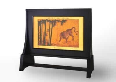 「竹林豹虎図(ちくりんひょうこず)」を純金のベースに描いたカレンダーの裏面!