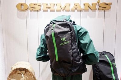 【写真を見る】「OSHMAN'S」で購入できる「ARC'TERYX」のバックパック「アロー22」(2万9160円)